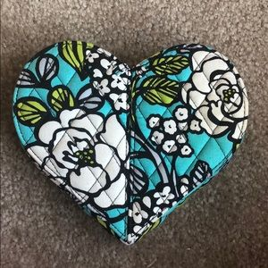 Vera Bradley heart shaped jewelry box